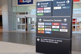 Directional Signs at SAN Rental Car Center